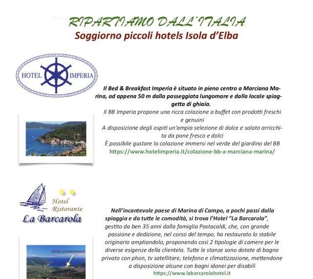 Soggiorno piccoli hotels Isola d'Elba