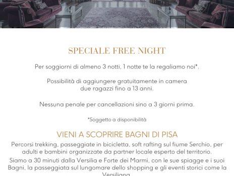 Bagni di Pisa special free night