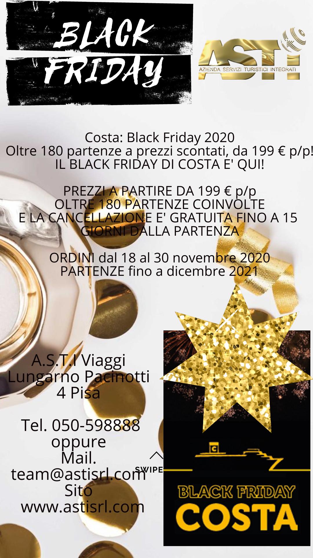 COSTA CROCIERE: Black Friday 2020