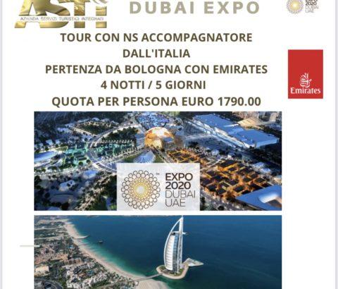 I Viaggi di Gruppo con ASTI:  EXPO DUBAI 01/05 Novembre 2021